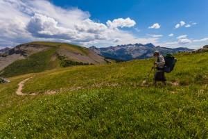 Man hikes section of the Colorado Trail from SIlverton to Durango