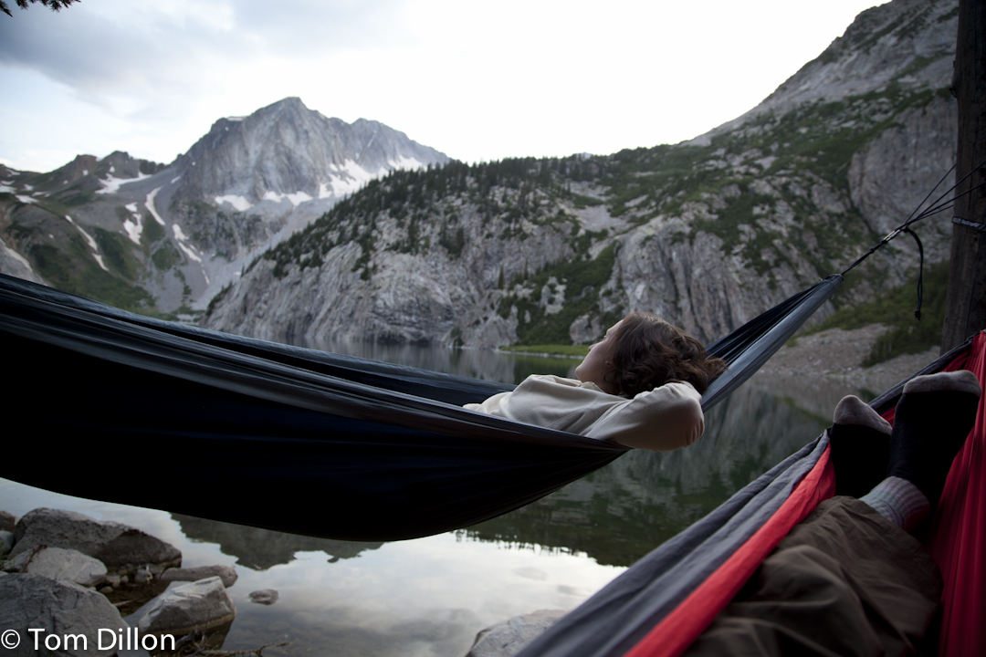 Relaxing in the hammocks with Steph Travers after an amazing day of hiking in Snowmass CO
