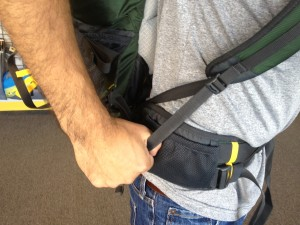 shoulder strap adjustment on a mountainsmith backpack