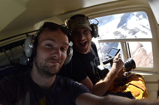 Jeff and Nelson Carayannis on chopper.