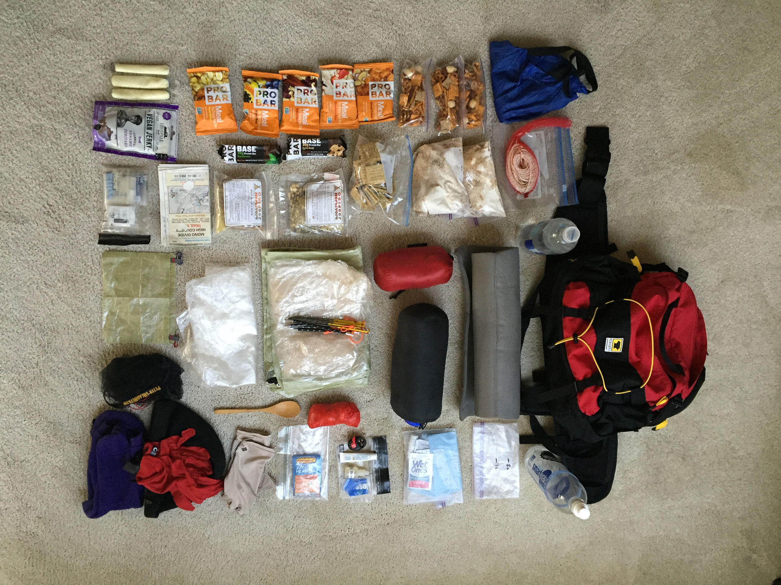 layout of mountainsmith day pack with glen van peski