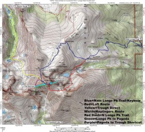 Map of Long's Peak Hike