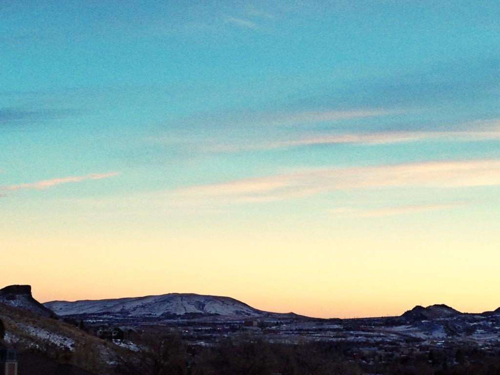 sunset, mountainsmith, golden, co, colorado, table mountain