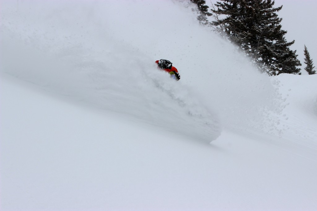Ian Tarbox gets tits deep in the Jackson Hole backcountry.