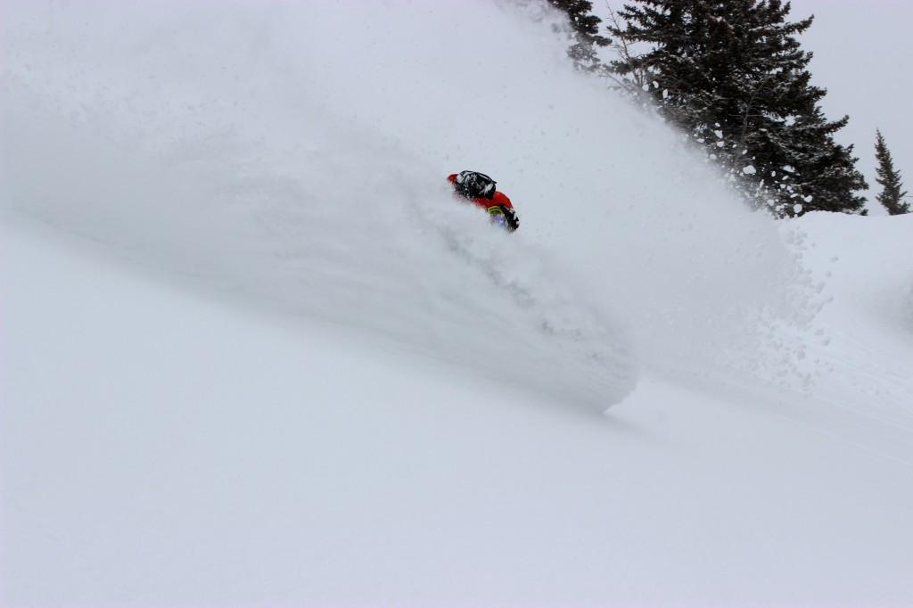 Ian Tarbox gets tits deep in the Jackson Hole backcountry.