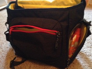 The Mountainsmith Rift Messenger Bag features many useful pockets.