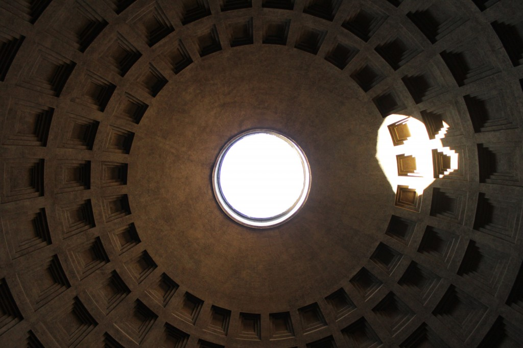 This is an amazing structure and happens to be where Raphael is buried. The locals say that even when it rains, water does not fall through the hole in the roof. Rome, Italy