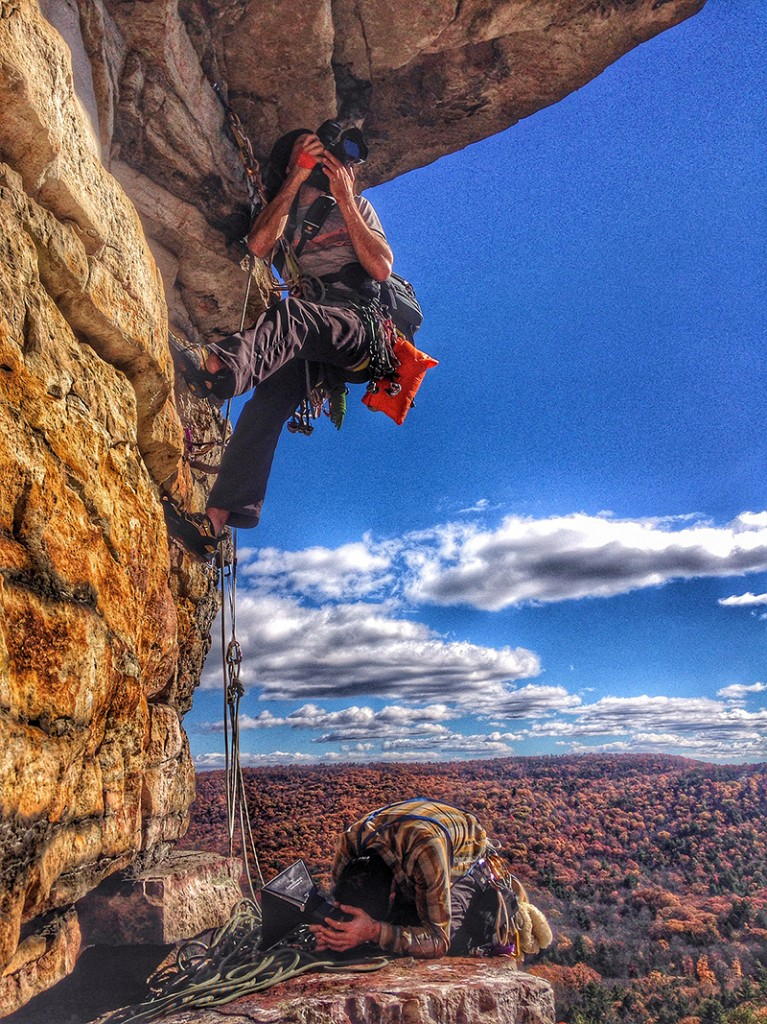 Climbing with the Mountainsmith Tour FX over the autumn colors of the Northeast