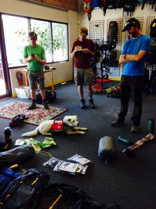 Outdoor industry writers prepare their gear at Mountainsmith headquarters
