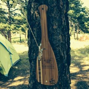Mellow Militia Tiki Toss, Mountainsmith edition hangs on a tree