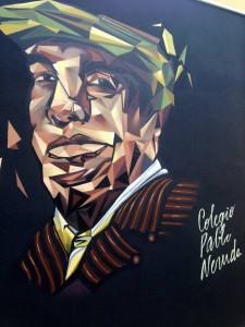 Artists portrait of Pablo Neruda