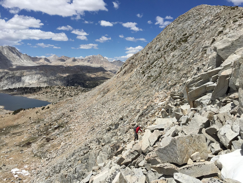 Climbing Puppet pass with Jonathan mcfarland and glen van pesky