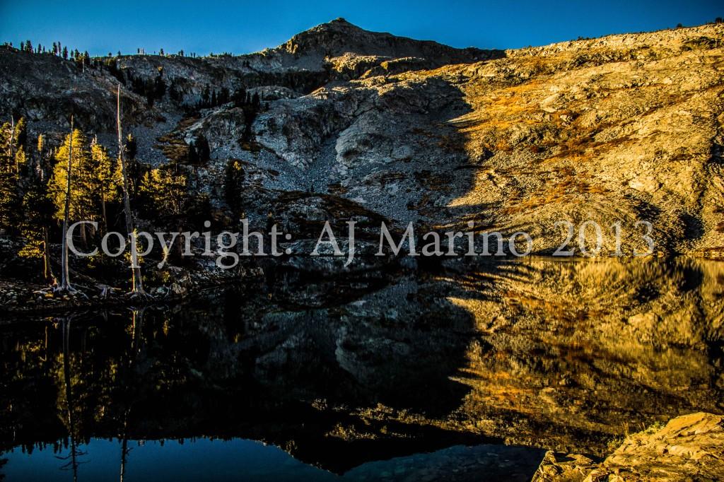 AJ Marinophoto photopraph of Ralston Lake under Mt. Mount Ralston